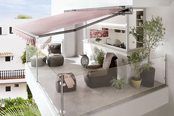 Innovative markise punktet mit design funktion und qualitat for Markise balkon mit tapeten hornbach baumarkt
