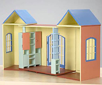 bauanleitung f r ein aufklappbares puppenhaus f r barbie und ken. Black Bedroom Furniture Sets. Home Design Ideas