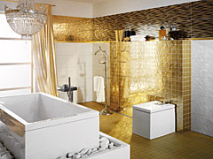 im badezimmer brechen goldene zeiten an auf. Black Bedroom Furniture Sets. Home Design Ideas